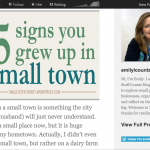 25 signs you grew up in a small town blog post