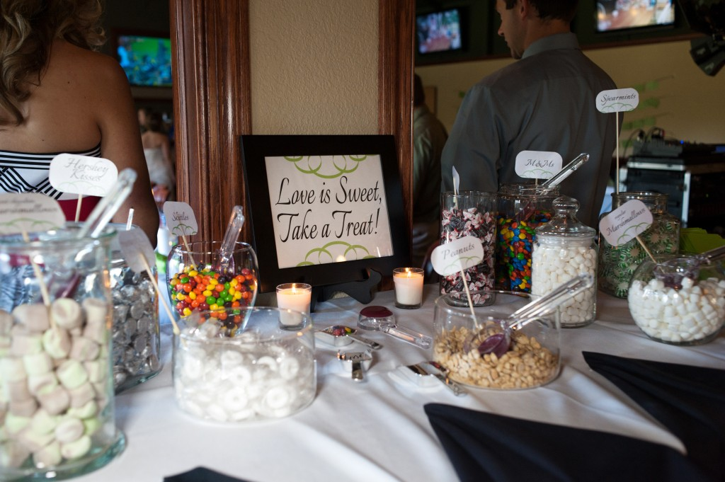 We had an awesome candy bar.