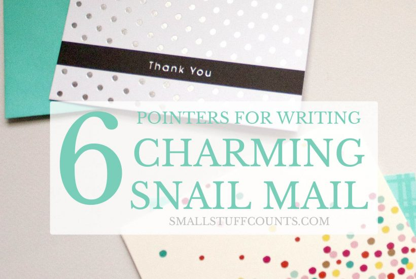 write charming snail mail