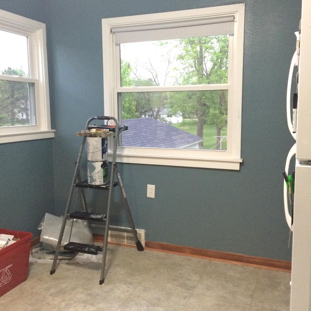 Kitchen Blue Wall