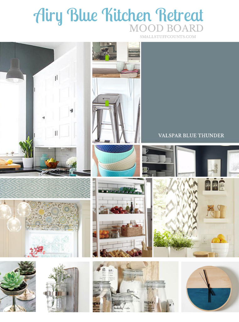 Kitchen Mood Board Airy Blue Retreat