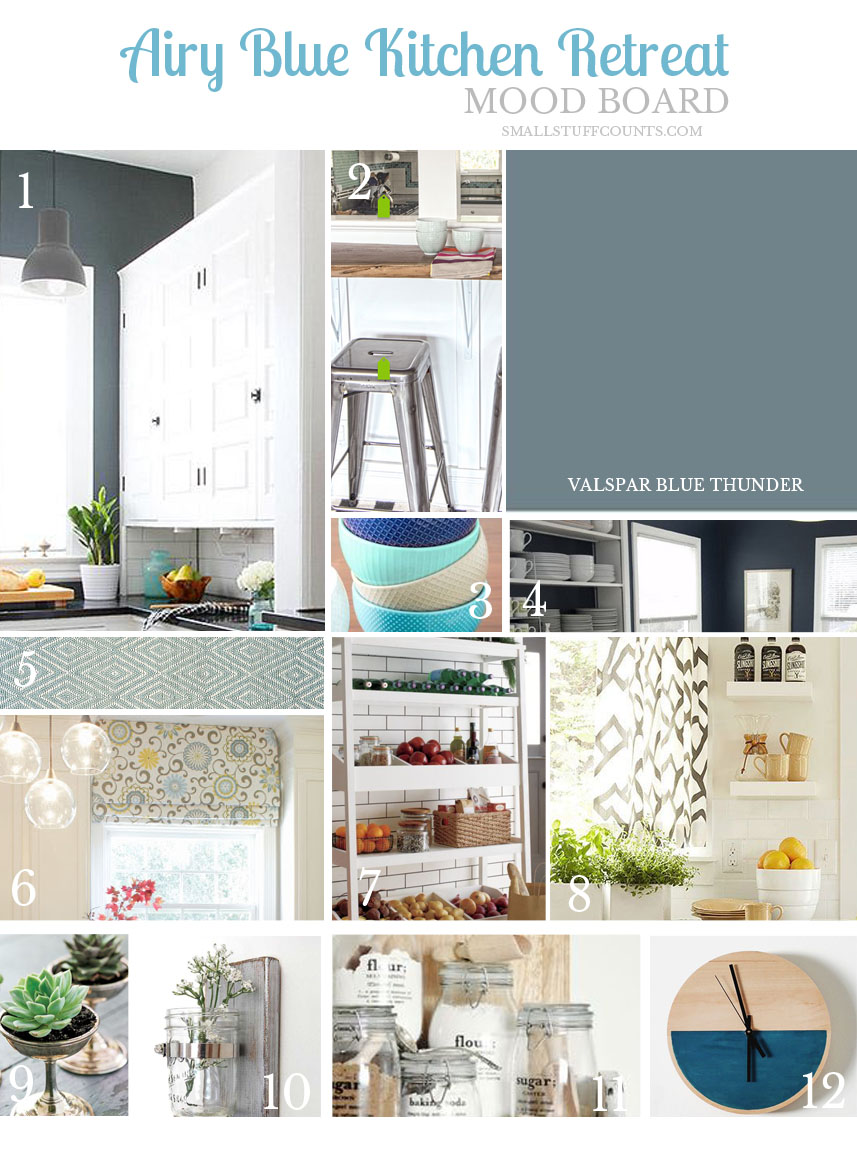 Airy blue kitchen retreat mood board small stuff counts for To do board for kitchen