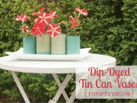 Dip-Dyed Tin Can Vases