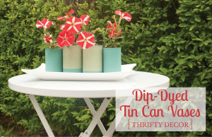 Dip Dyed Tin Can Vases 1