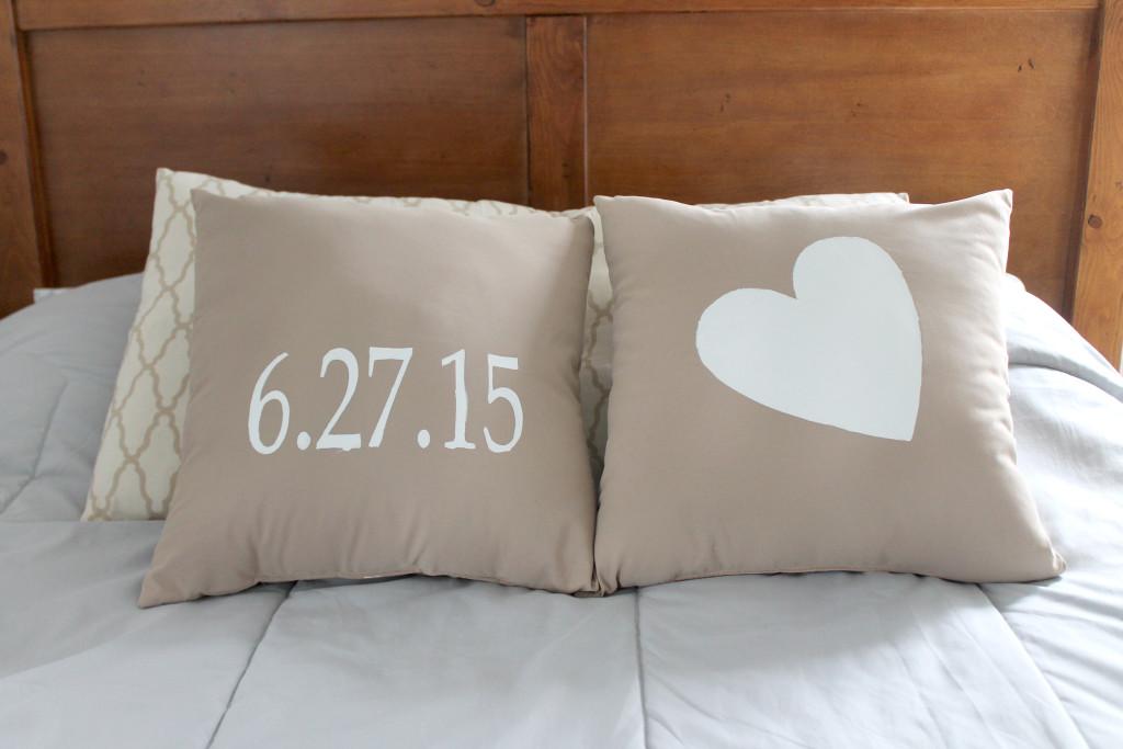 Wedding Date Pillow DIY