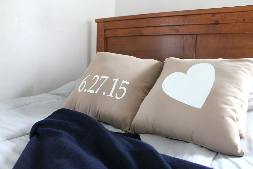 Wedding Date Pillow Gift Idea