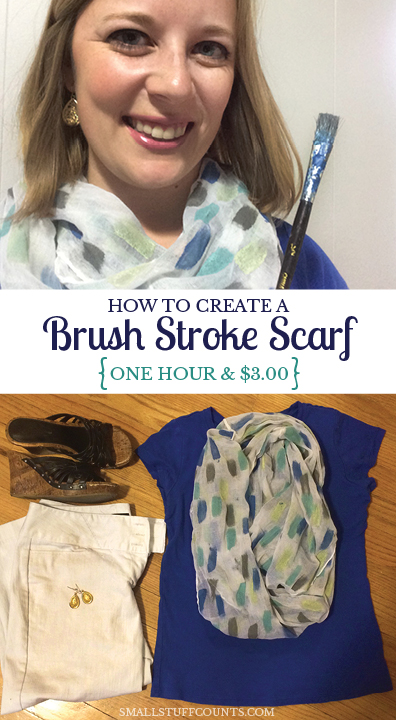 Brush Stroke Scarf Pinterest Graphic