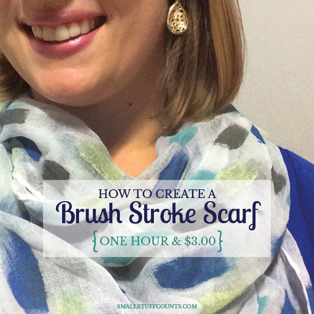 Brush Stroke Scarf DIY
