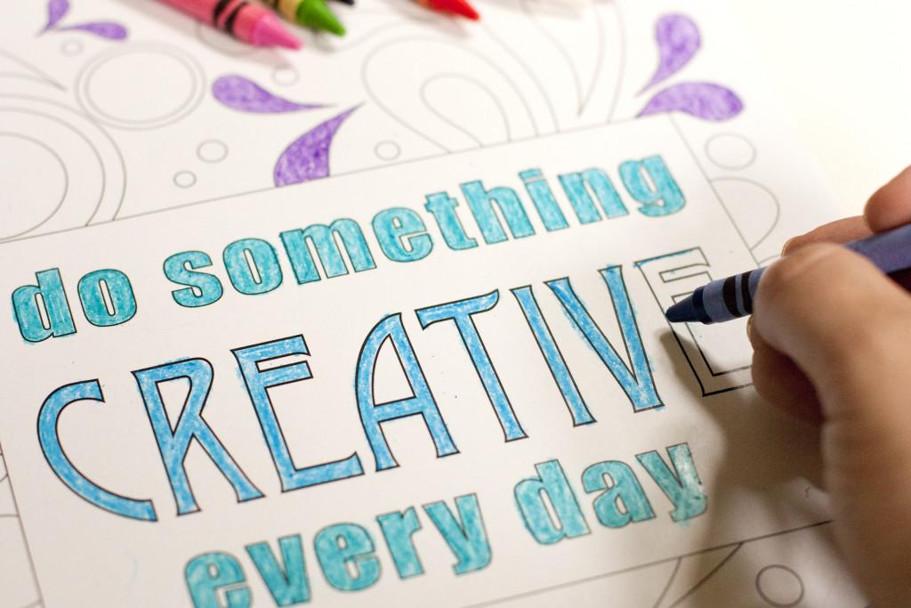 Creativity Coloring Sheet Free Printable