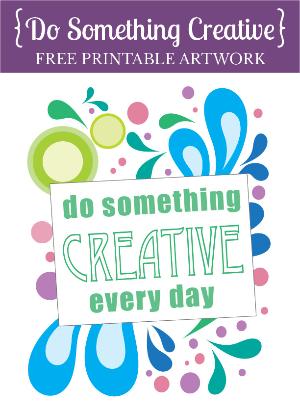 This printable art would look great in a fun frame in my craft room or office.