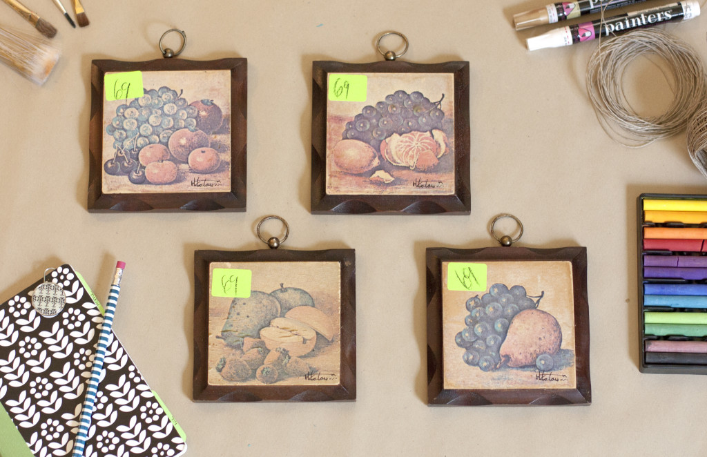 Thrifted Wood Wall Hangings