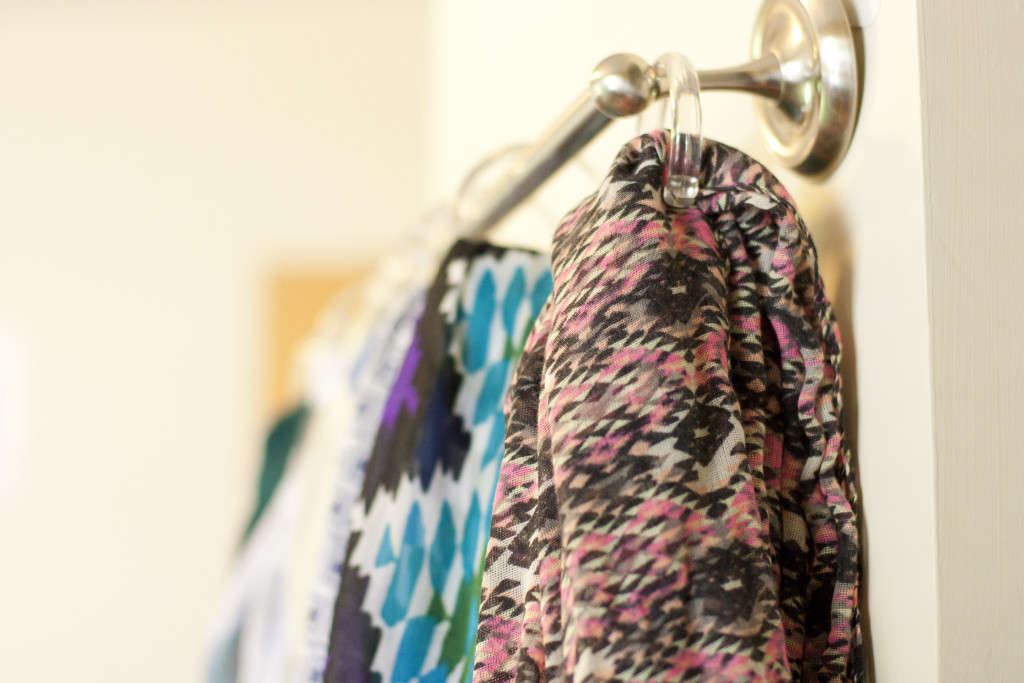 What a smart way to organize all of my scarves! Now I can see them all at a glance.