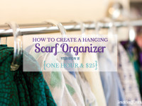 Easy Hanging Scarf Organizer – Version 2!