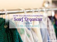 Easy Hanging Scarf Organizer – Version 2!