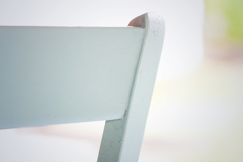 Aqua Chair Half Painted Close Up