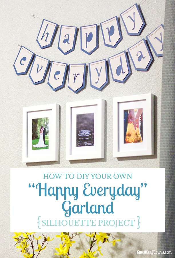 Incorporate a simple garland into a mini gallery wall