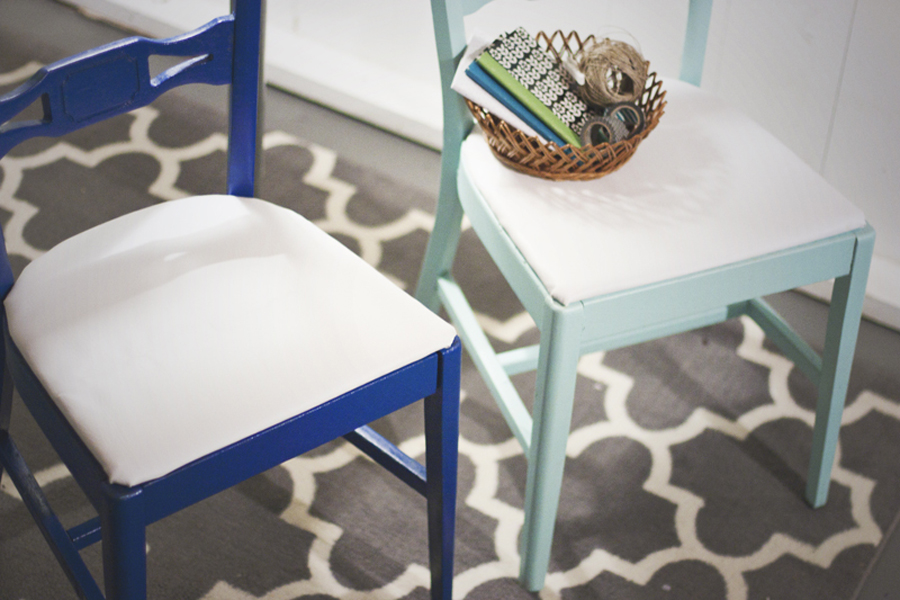 Refinish thrifted chairs with a bit of paint and TLC