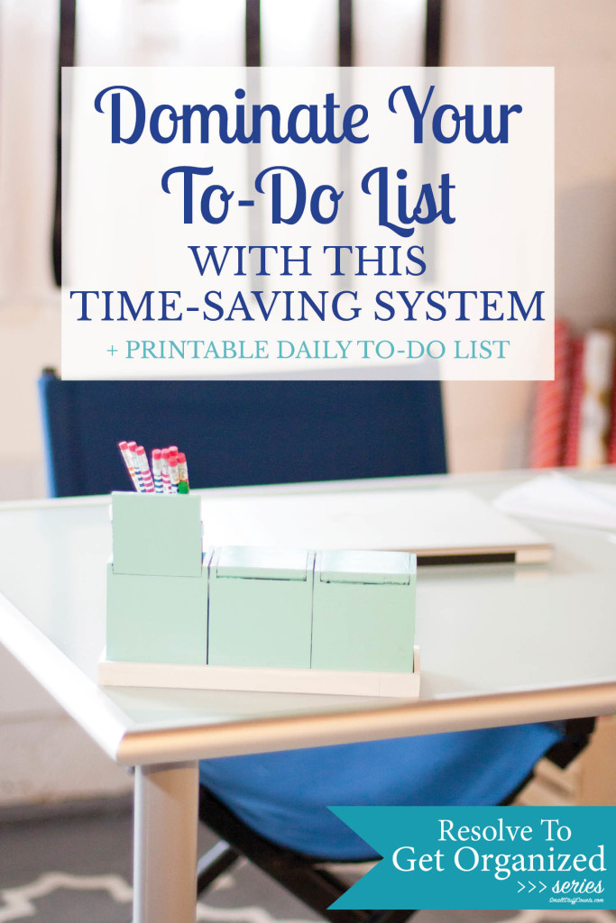 Great way to organize my daily to-do list without going crazy! Love this printable