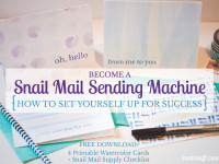 Become a snail mail sending machine {how to set yourself up for success}