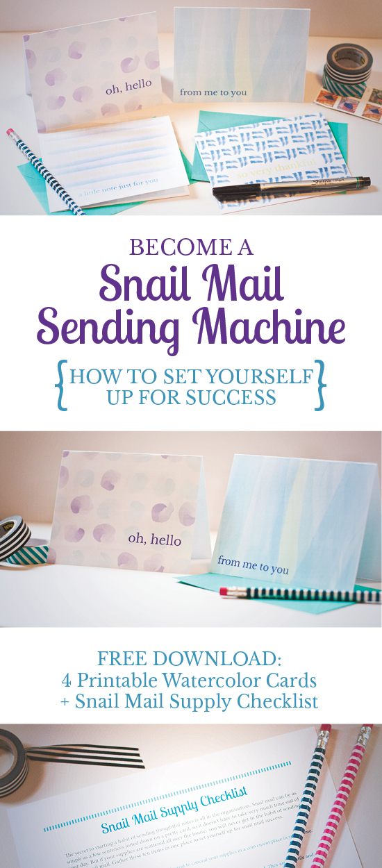 Great tips for organizing your snail mail supplies and sending more letters