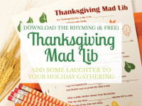 Add some laughter to your Thanksgiving gathering {free activity}
