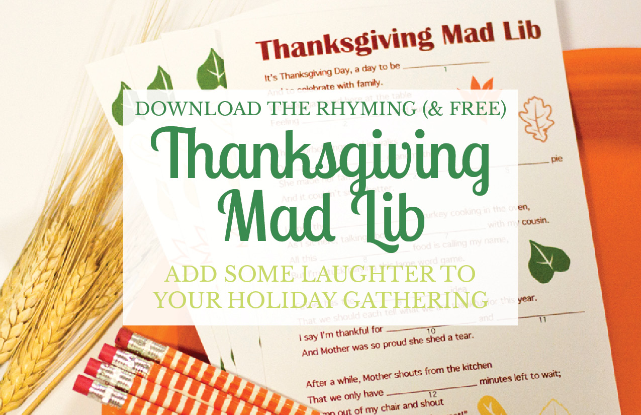 photograph relating to Thanksgiving Mad Libs Printable named A No cost Thanksgiving Nuts Lib Printable - Very low Things Counts