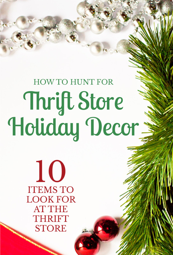 I need to go thrift shopping now! So many good ideas for holiday decor to shop for.