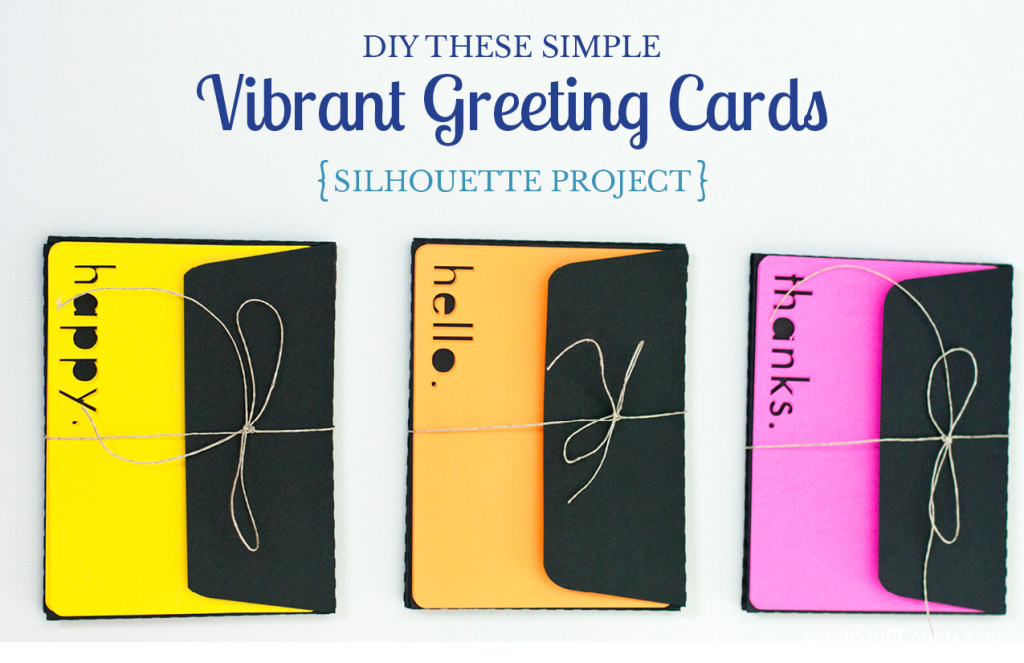 What a simple but cute Silhouette project! These cute cards are a great diy for yourself or for a gift.