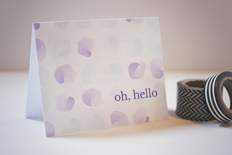 How adorable! Download this free printable watercolor note card