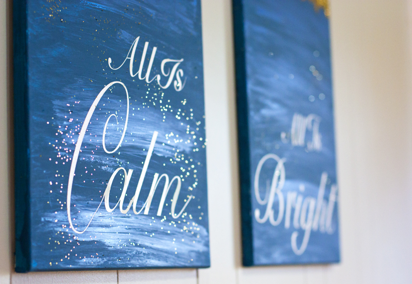 Calm and Bright Canavas Signs 13