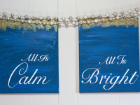 'All is Calm, All is Bright' canvas sign tutorial {plus a Silhouette giveaway!}