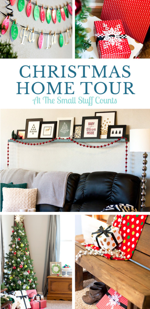 Check out this cute living room tour all decked out for Christmas!