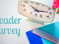 Ready to talk behind my back? {reader survey + giveaway}