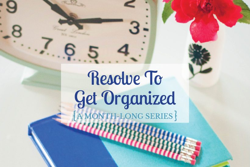 An entire series of blog posts filled with advice for organizing your life and your home. Perfect for my new year's resolution to get more organized this year!