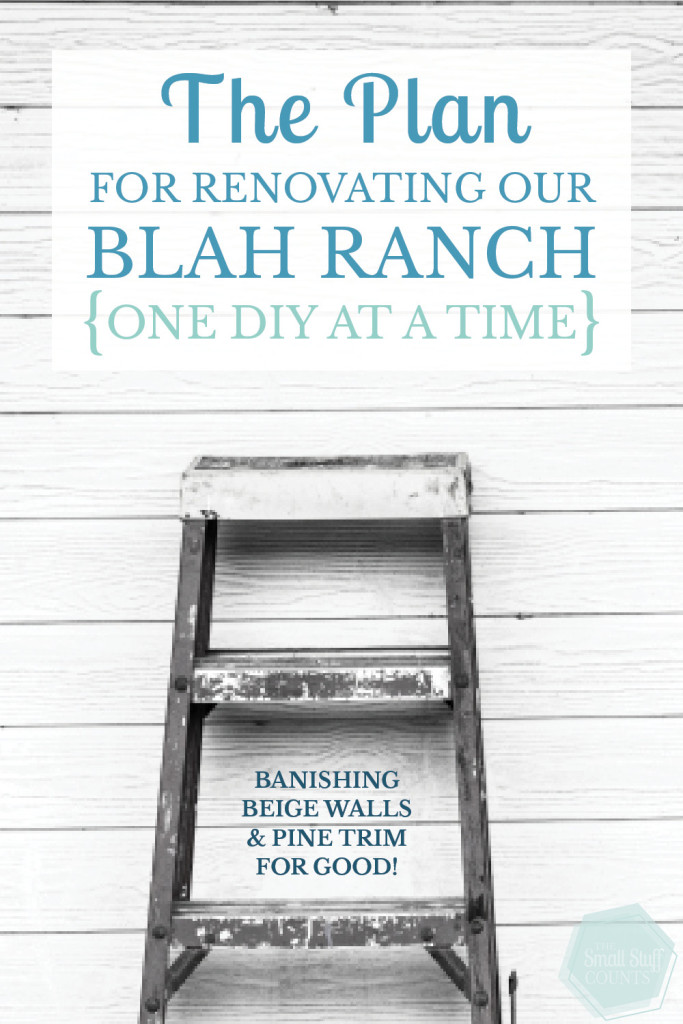 How I'm renovating a boring ranch house, one DIY project at a time. Banishing all the beige and pine wood for good.