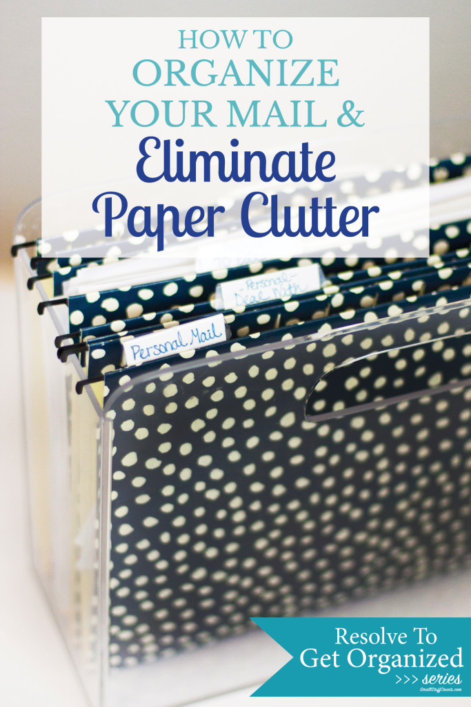 It's time to get rid of my piles of mail all over and get them organized!