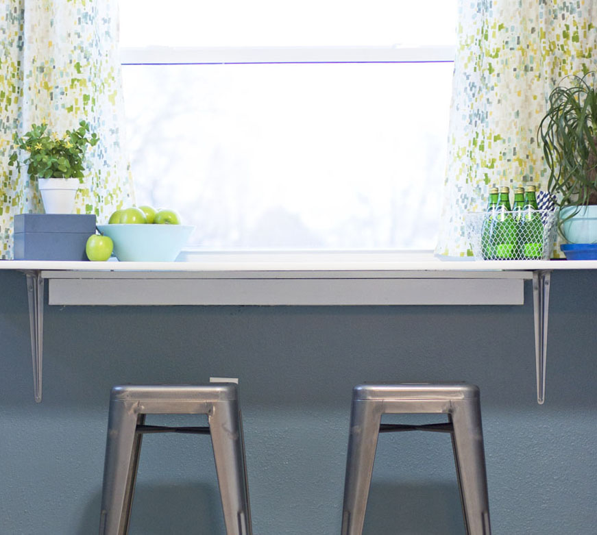 How To Install A DIY Breakfast Counter Under Window