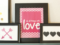 Free Valentine Art Printables for your Gallery Wall
