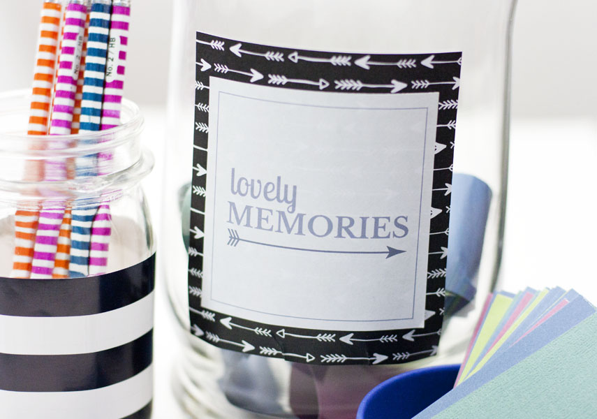 What a cute DIY gift idea to make a little memory jar. Could be a gift idea for anniversary, Valentine's Day, Christmas and more.