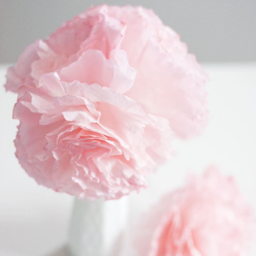 I can't believe how easy these pretty paper peonies are to make! Paper flowers are fun to create and make beautiful + thrifty decor. This blogger made these pretty pink paper flowers with coffee filters.