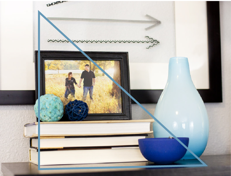 How To Decorate A Shelf By Arranging Objects In Triangles. Good Interior  Styling Tip!