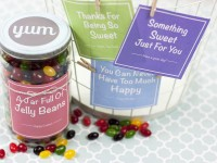 A Sweet DIY Candy Gift Jar (with printable labels)