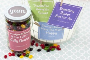 What a sweet gift idea! Turn an old jar into a little candy gift jar complete with one of these free label printables.