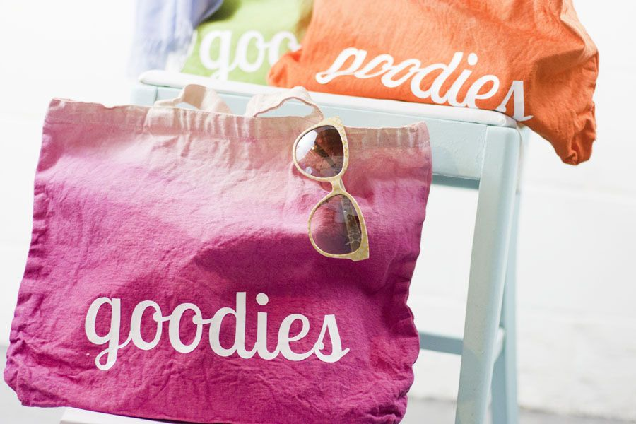 These totes are super adorable! Love, love, love the bright ombre colors. Must try this DIY tote project.