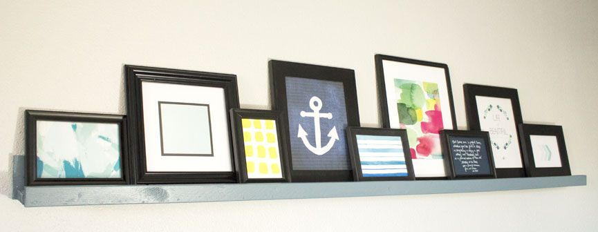I love these free art printables! Perfect for displaying on my picture ledge or gallery wall.