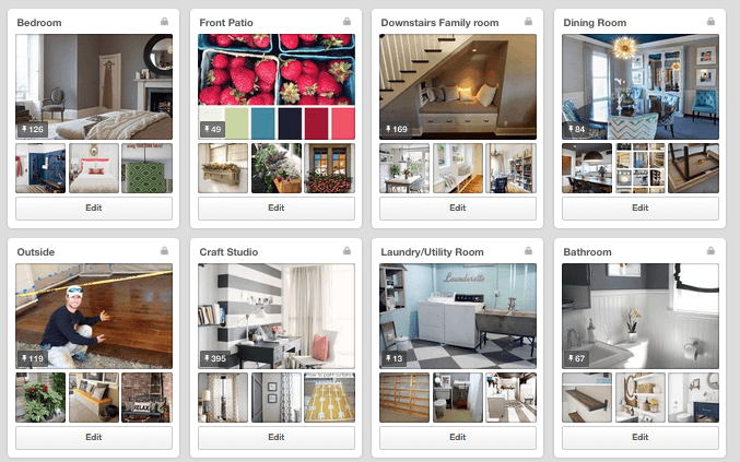 Good idea! Set up secret Pinterest boards for every single room of my house.
