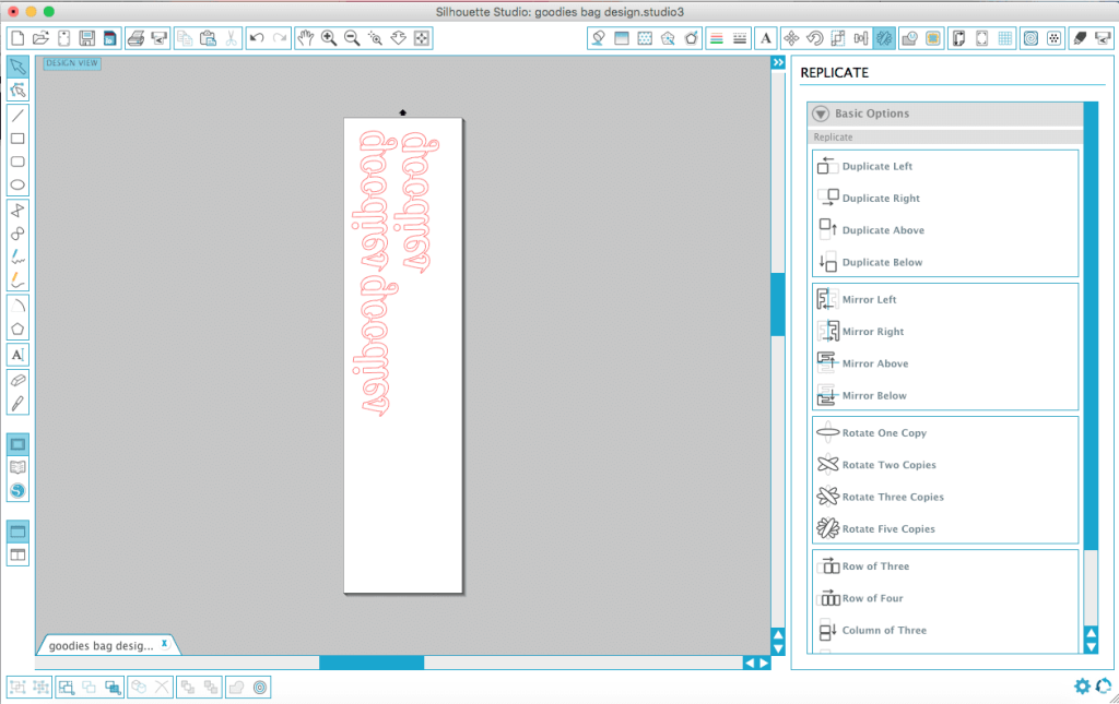 Silhouette Studio instructions for cutting HTV material