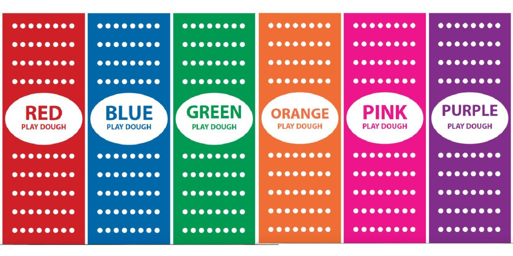 Love these colorful playdough labels! Saving these free printables for a future easy gift idea.