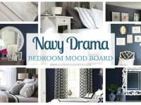 Navy Drama Bedroom Makeover Plan {One Room Challenge-Week One}