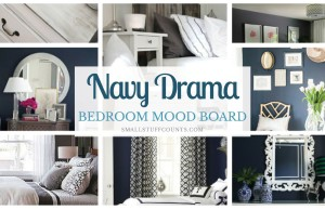 Great inspiration for a navy room makeover.